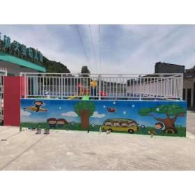 贵州幼儿园彩绘墙面,传递品牌新概念