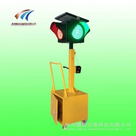 移动太阳能红绿灯 交通信号灯满屏灯 一灯三色红绿灯