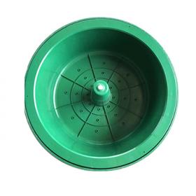 湖北龙康复合井盖系列-草坪花盆井盖-PP料绿色/黑色花盆